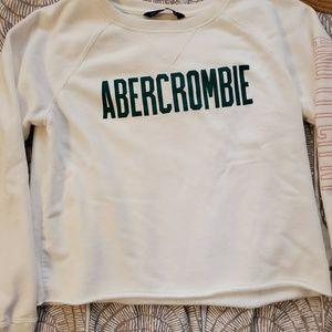 White Abercrombie crewneck Sweatshirt